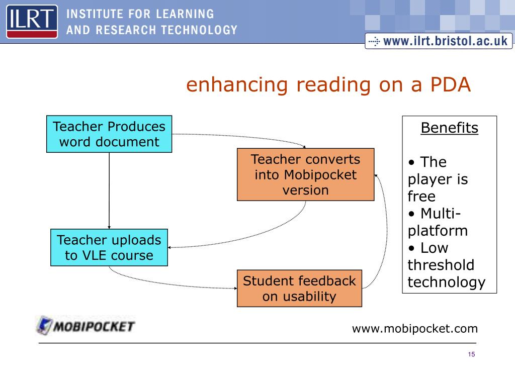 enhancing reading on a PDA