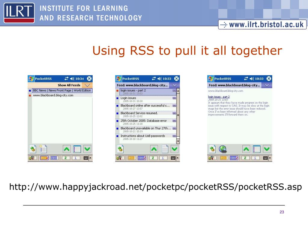 Using RSS to pull it all together