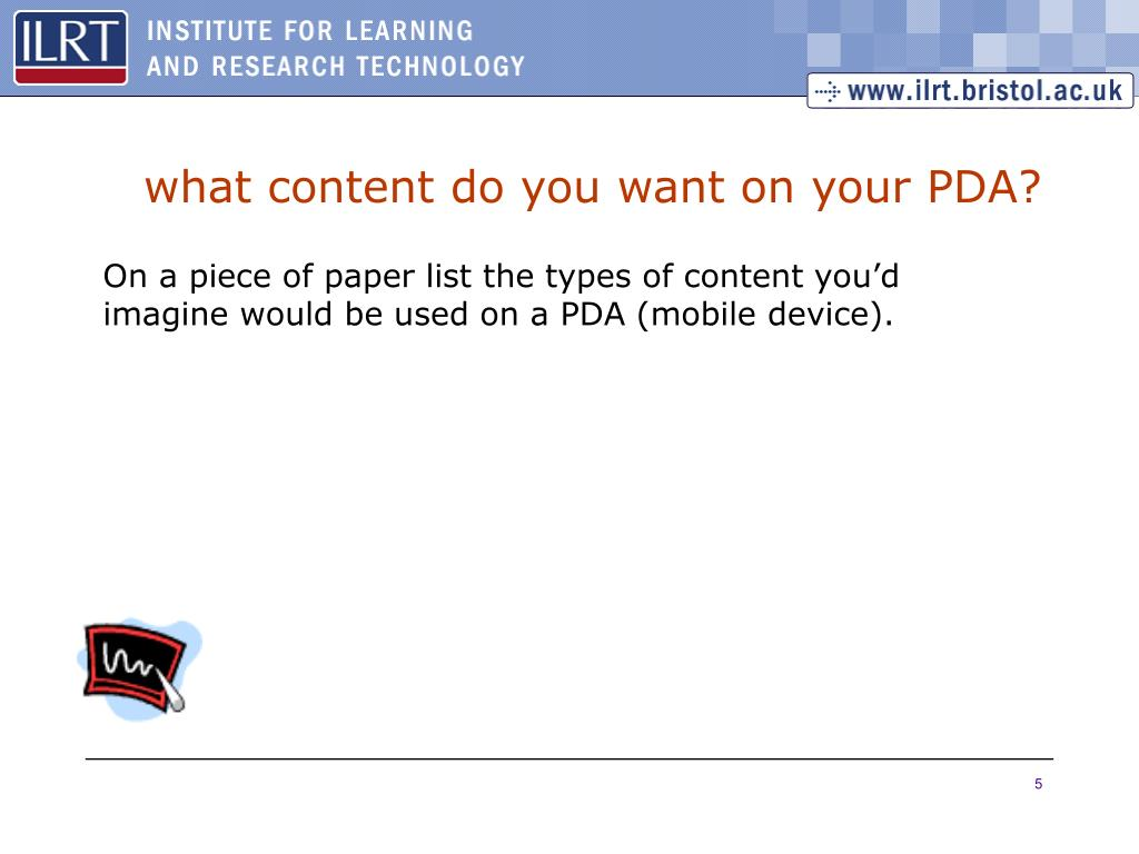 what content do you want on your PDA?
