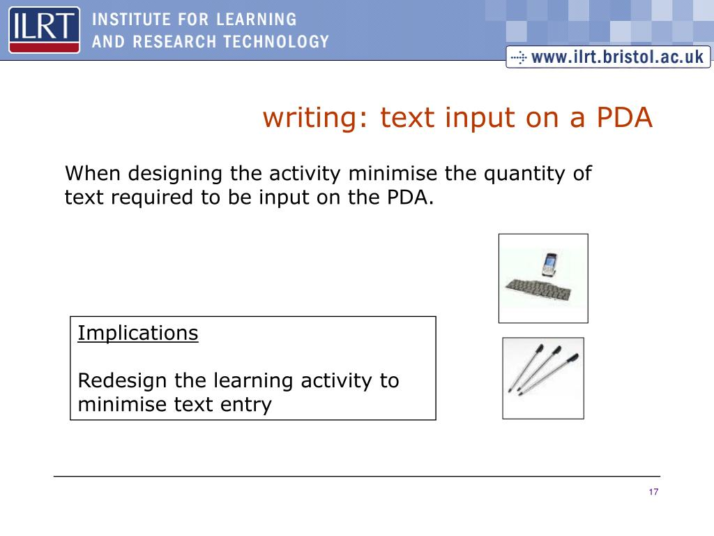 writing: text input on a PDA
