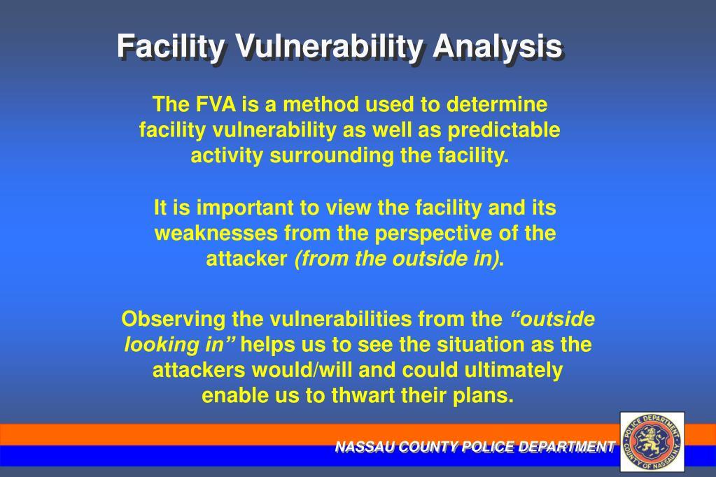Facility Vulnerability Analysis