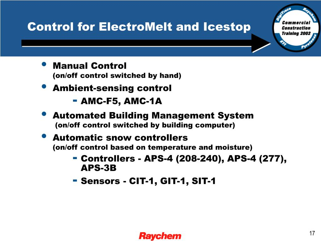 Control for ElectroMelt and Icestop
