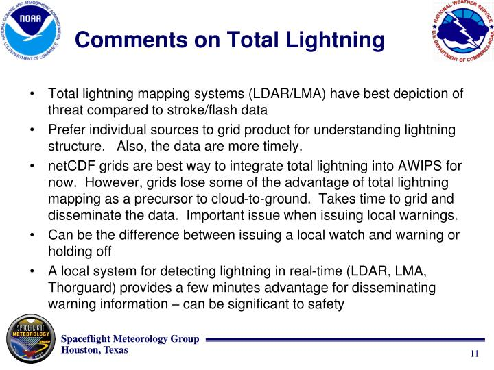 Comments on Total Lightning