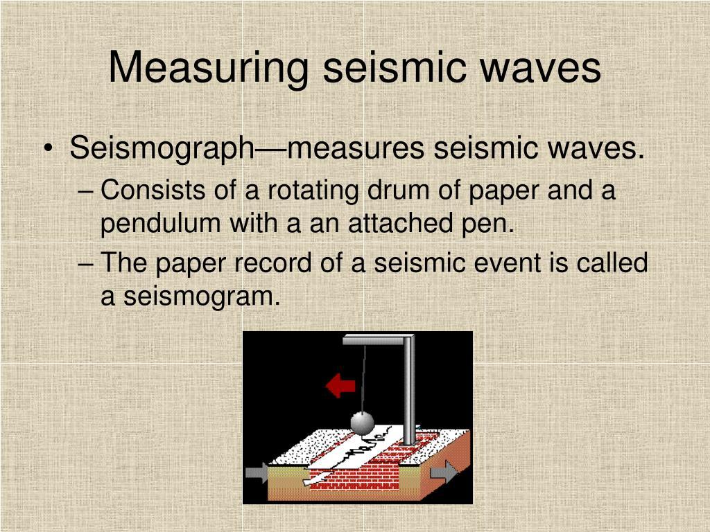 Measuring seismic waves