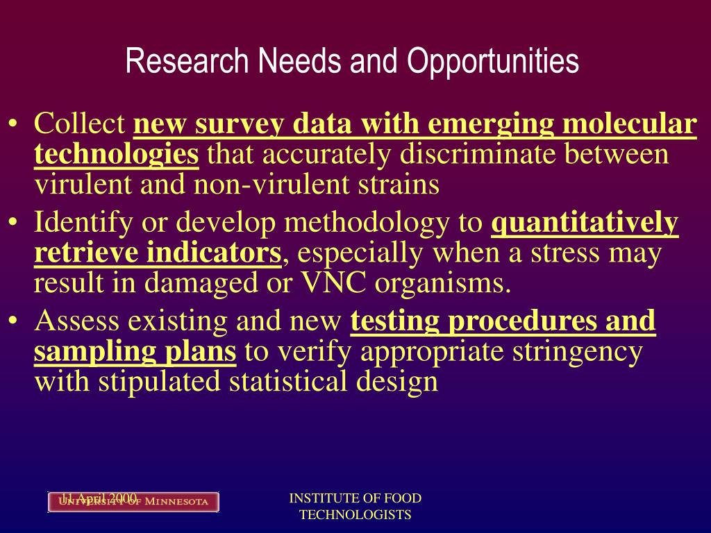 Research Needs and Opportunities