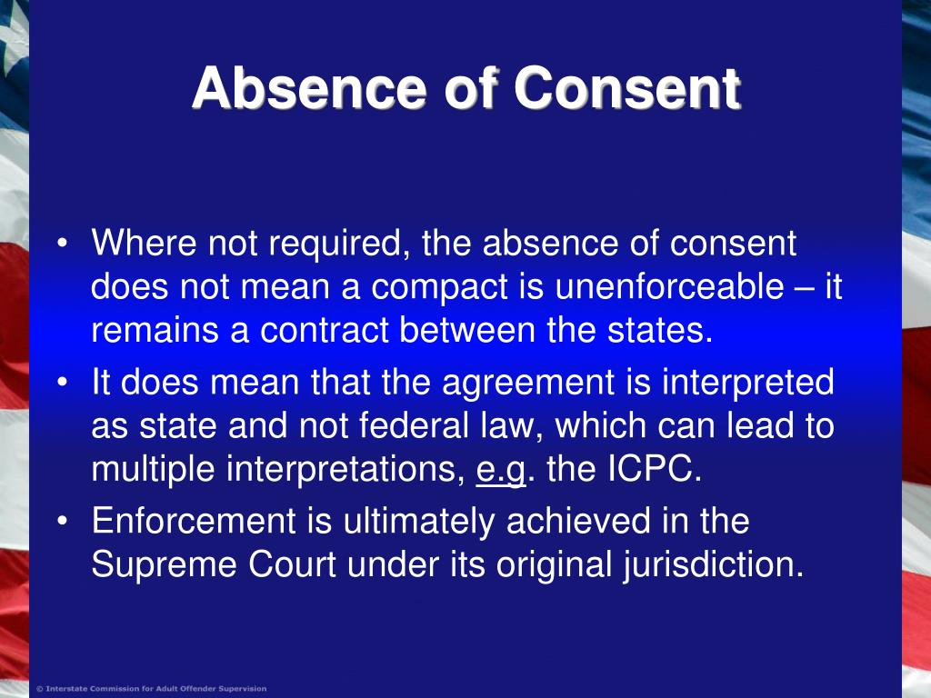Absence of Consent
