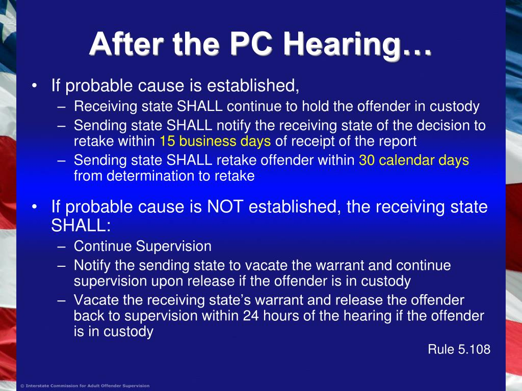 After the PC Hearing…