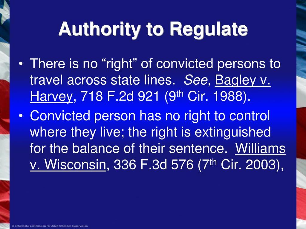 Authority to Regulate