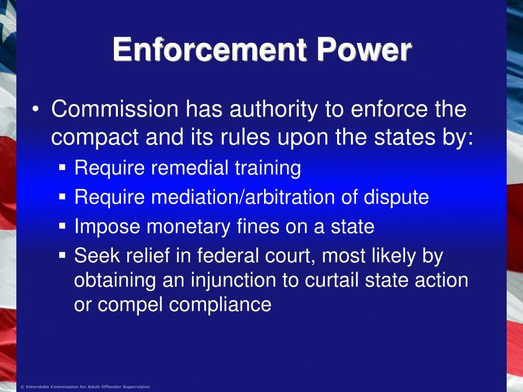 Enforcement Power