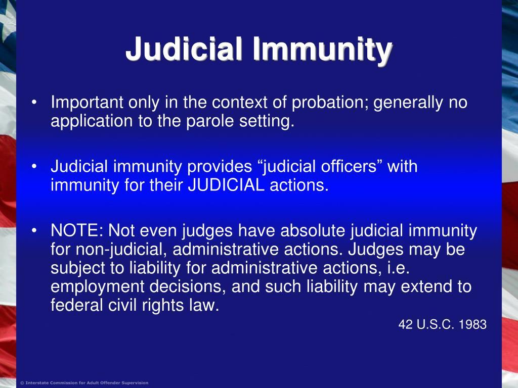 Judicial Immunity