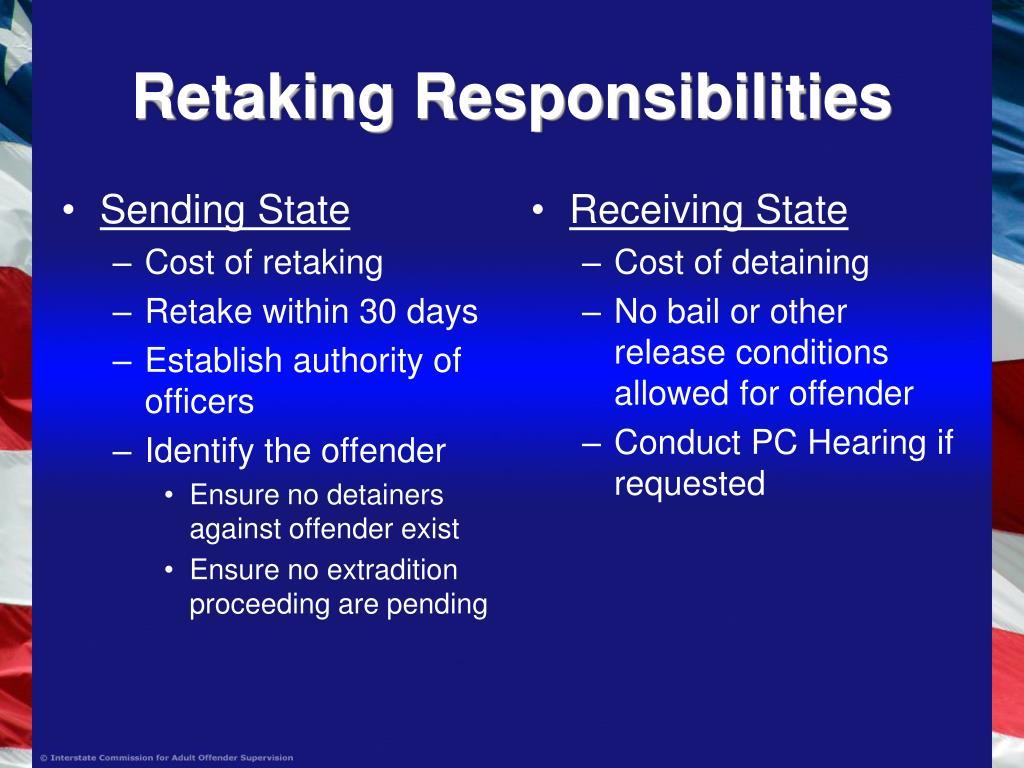 Retaking Responsibilities
