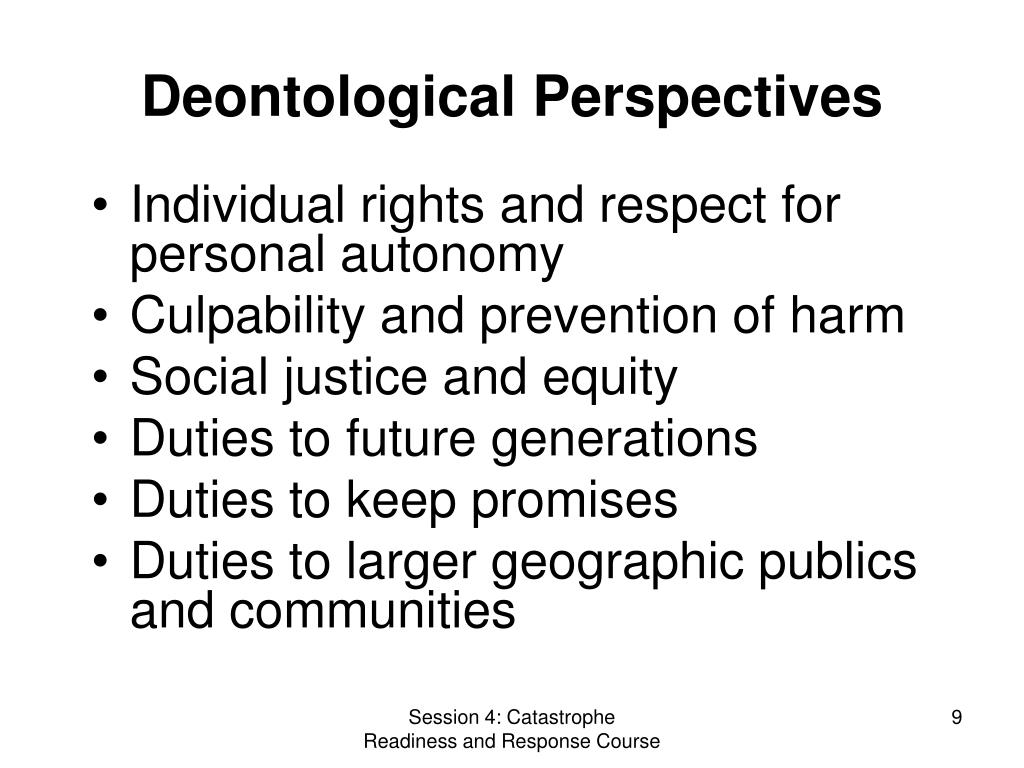 Deontological Perspectives