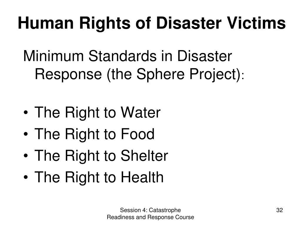 Human Rights of Disaster Victims