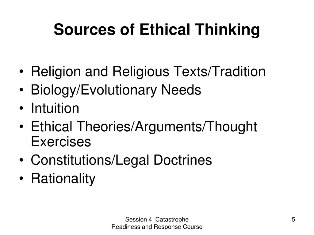 Sources of Ethical Thinking