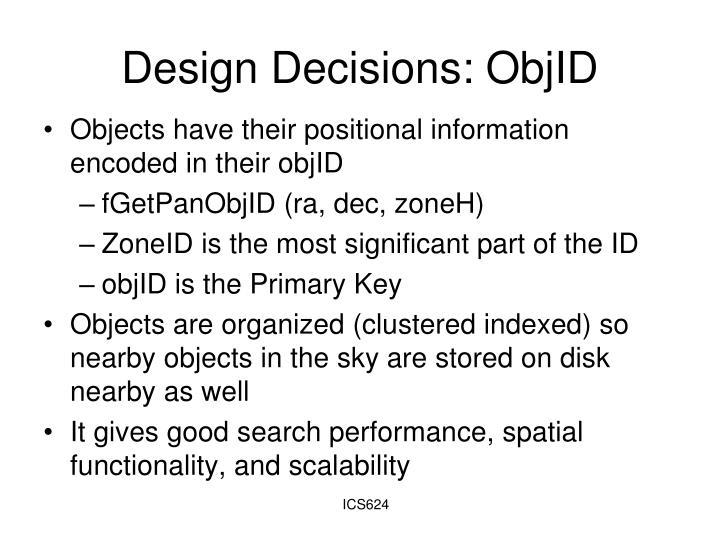 Design Decisions: ObjID