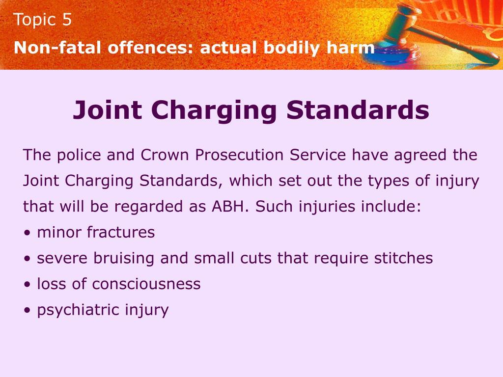 Non-fatal offences: actual bodily harm