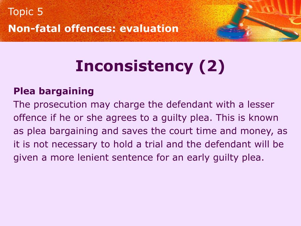 Non-fatal offences: evaluation