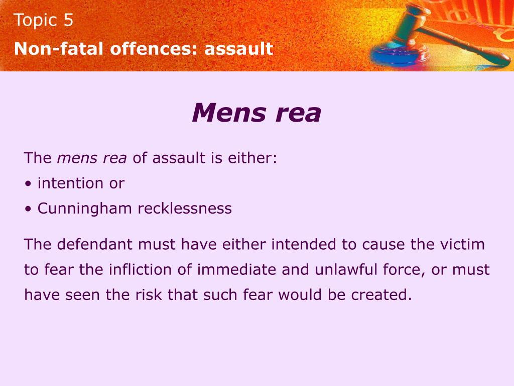 Non-fatal offences: assault
