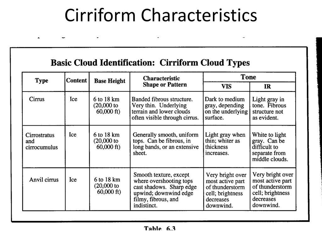 Cirriform Characteristics