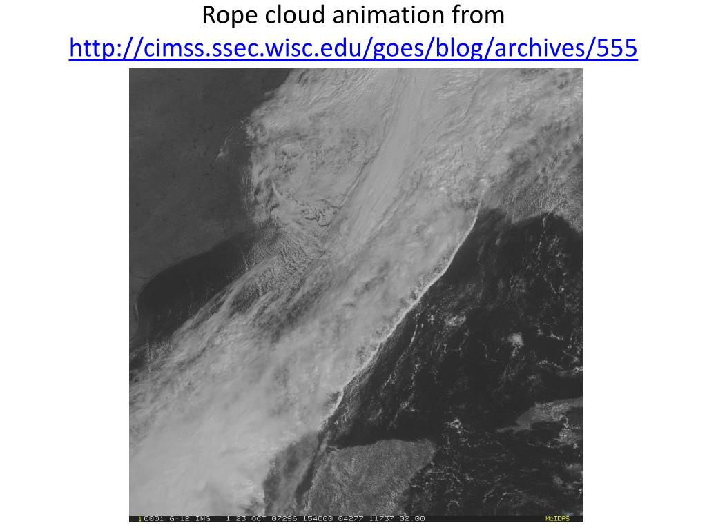 Rope cloud animation from