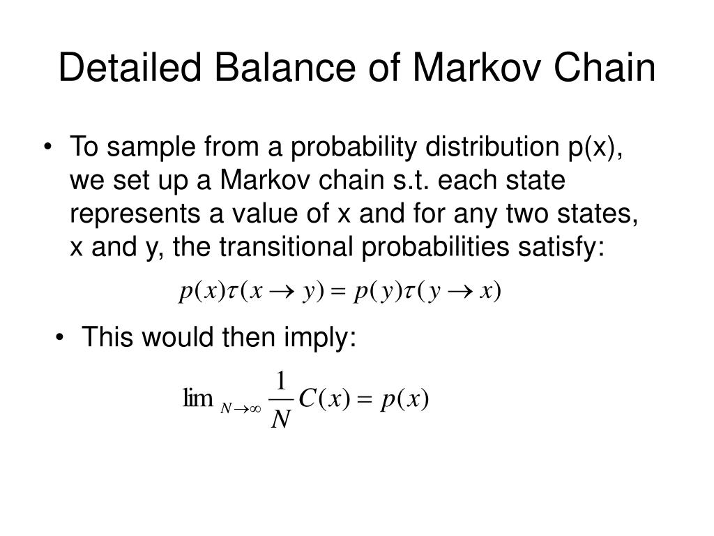 Detailed Balance of Markov Chain