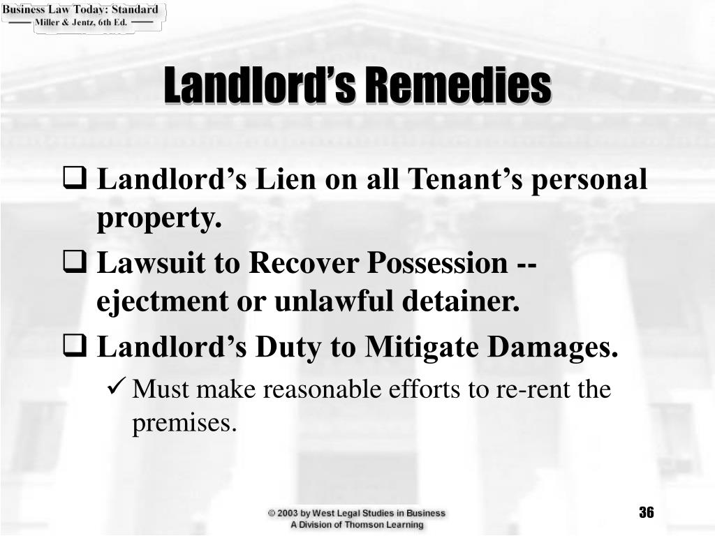 Landlord's Remedies