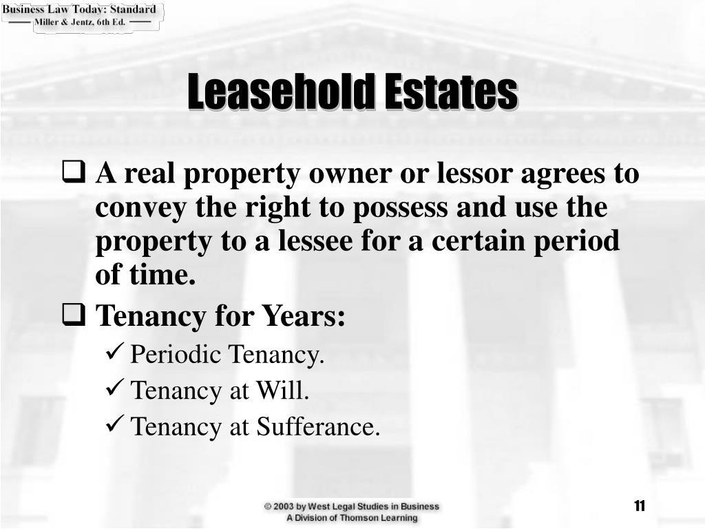 Leasehold Estates