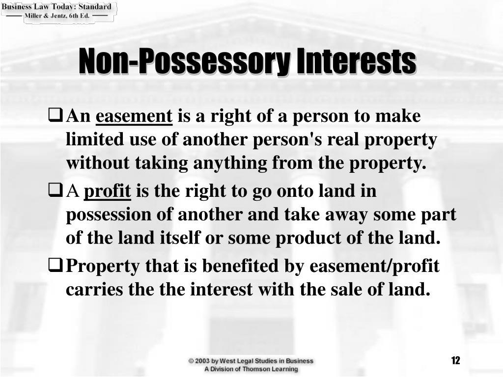 Non-Possessory Interests