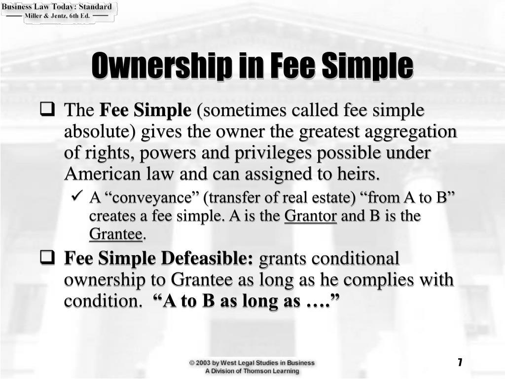 Ownership in Fee Simple
