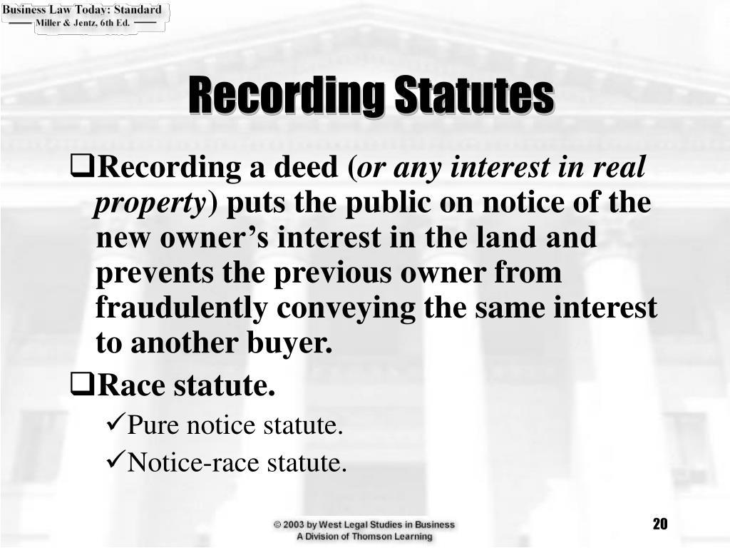 Recording Statutes