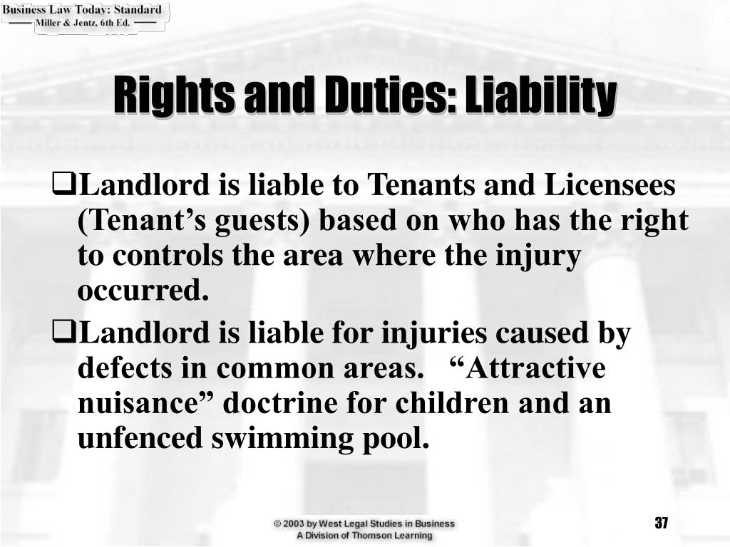 Rights and Duties: Liability