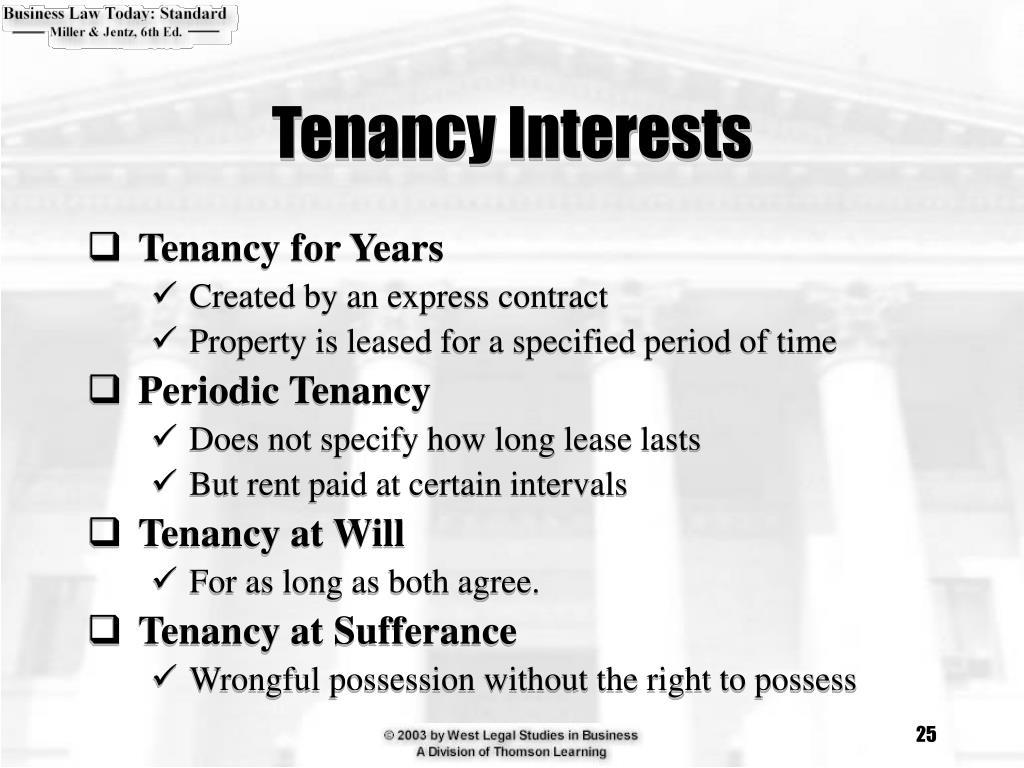 Tenancy Interests