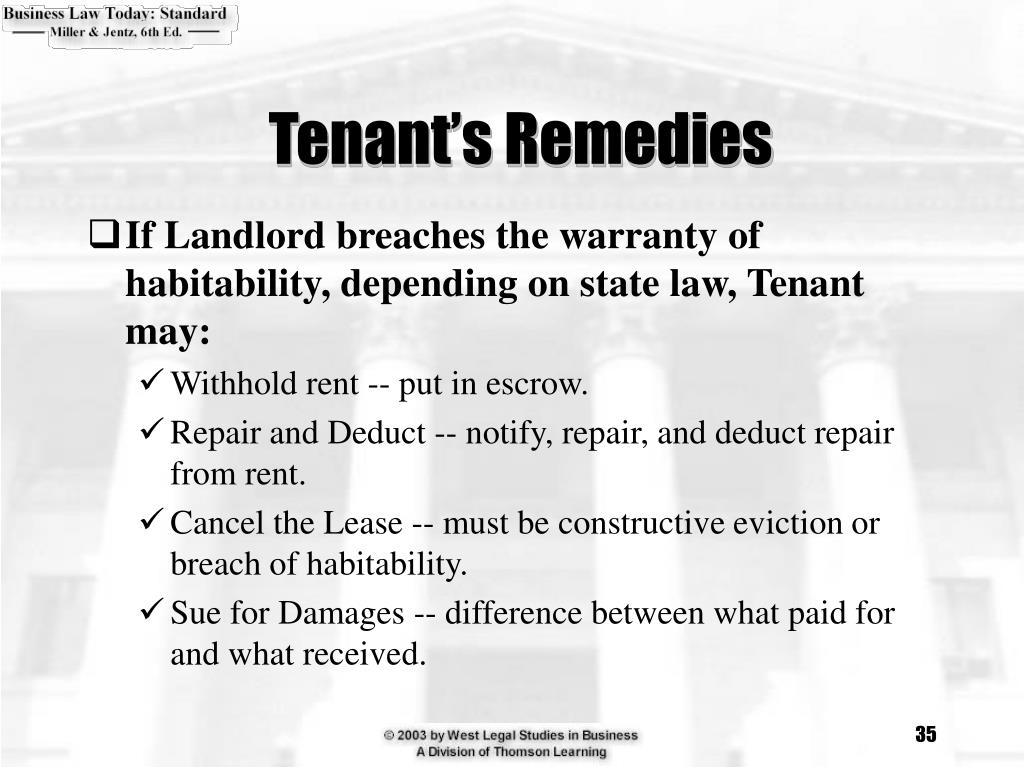Tenant's Remedies