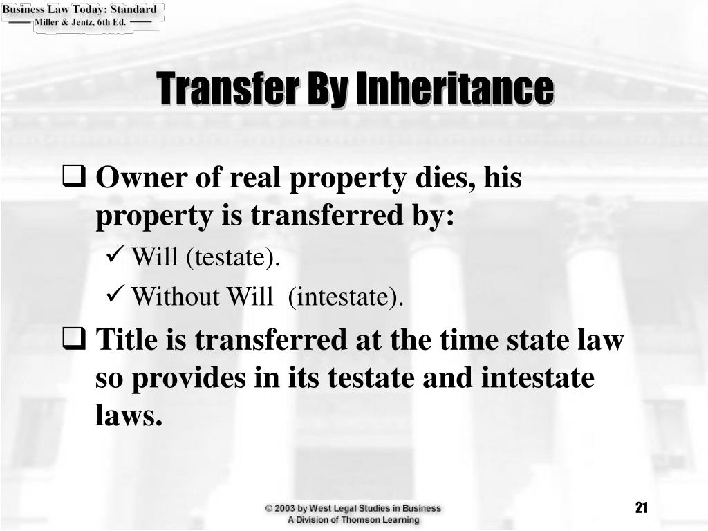 Transfer By Inheritance