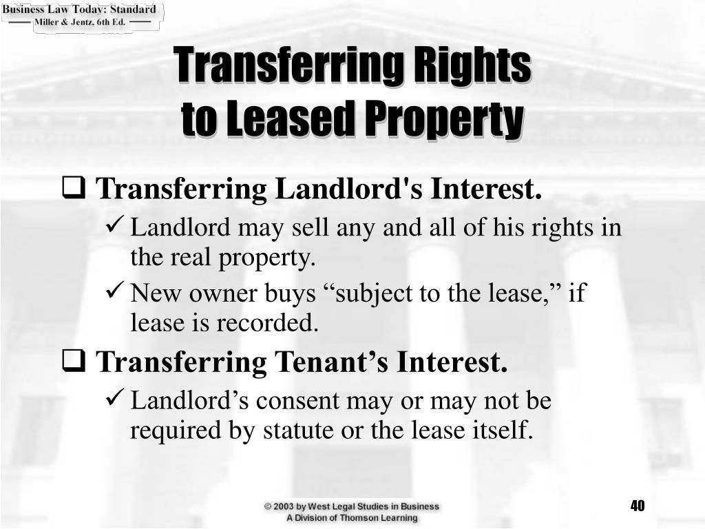 Transferring Rights