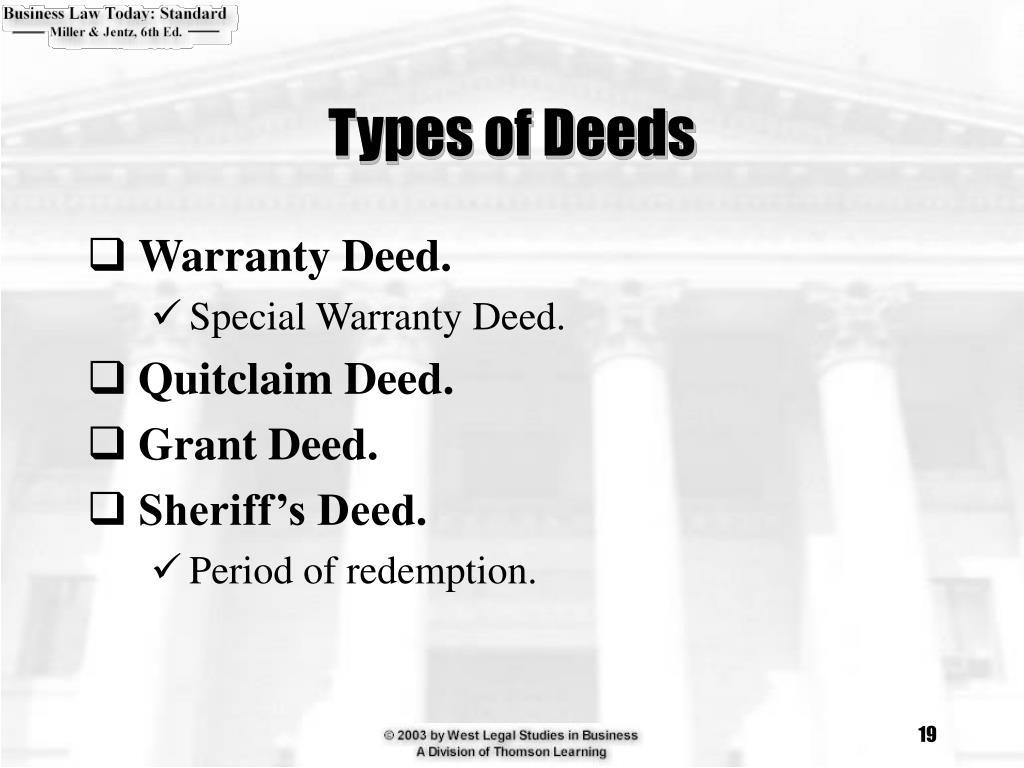 Types of Deeds
