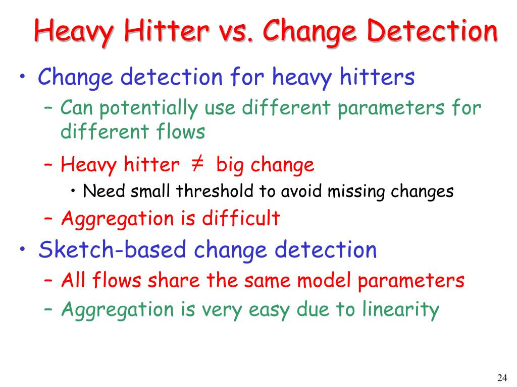 Heavy Hitter vs. Change Detection