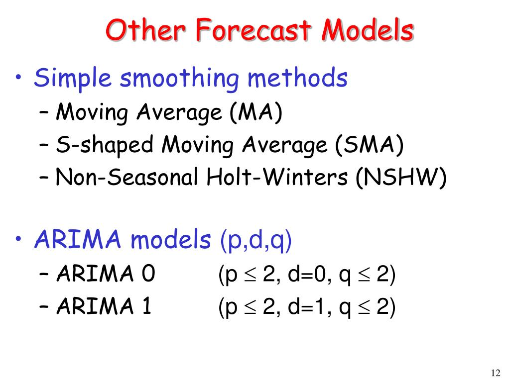 Other Forecast Models