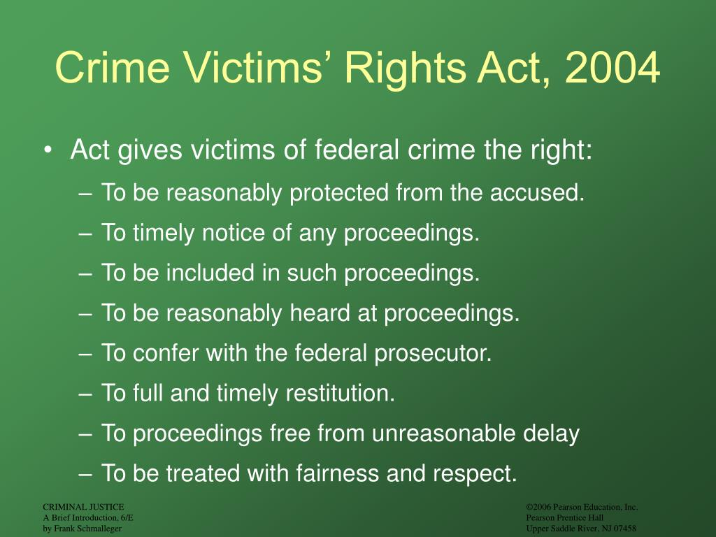 Crime Victims' Rights Act, 2004