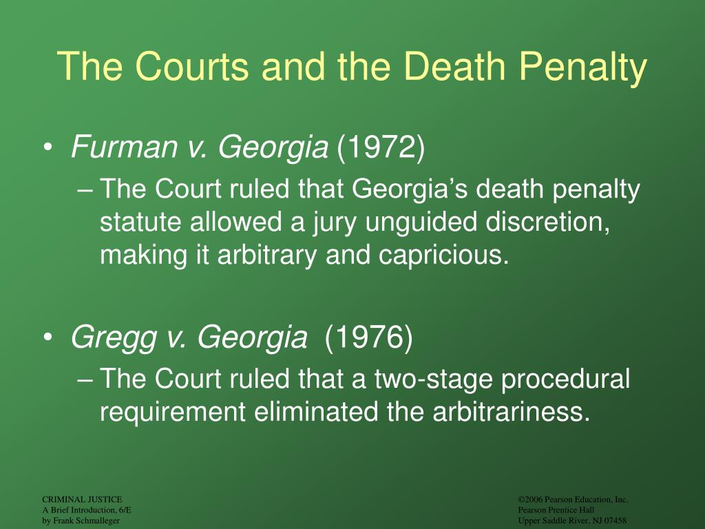 The Courts and the Death Penalty