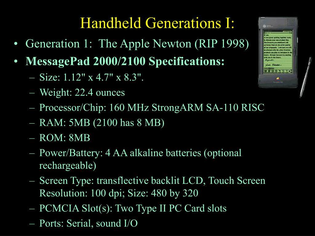 Handheld Generations I: