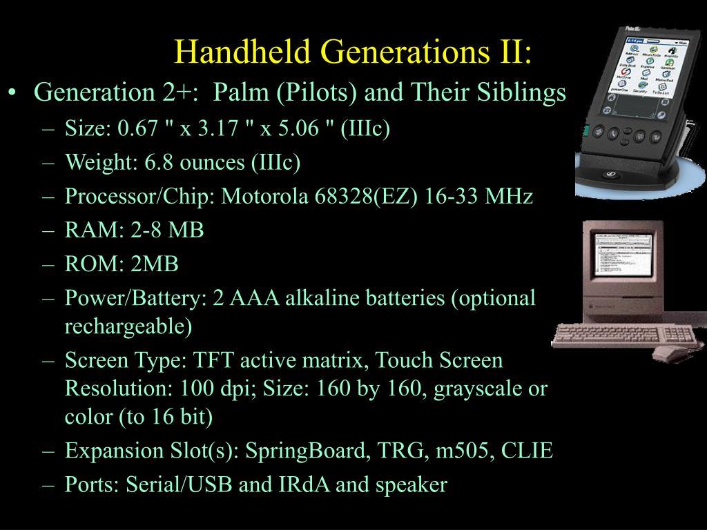 Handheld Generations II: