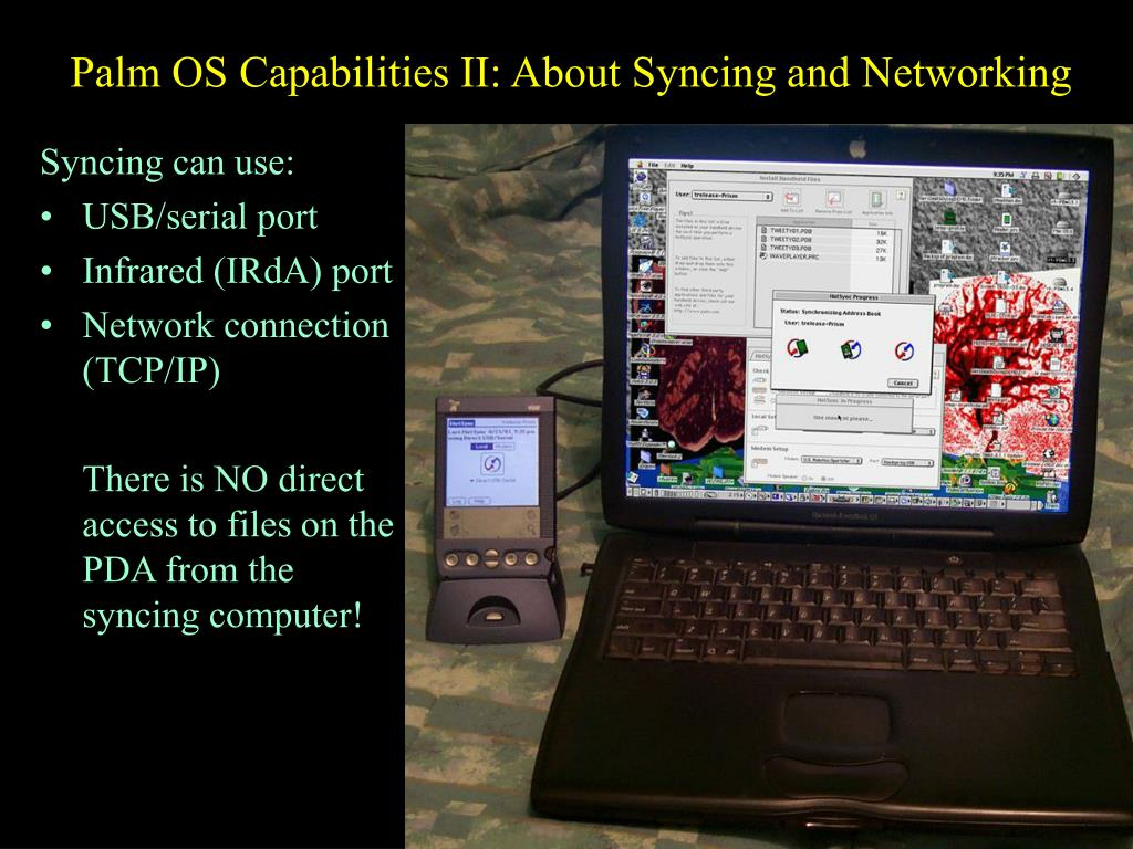 Palm OS Capabilities II: About Syncing and Networking