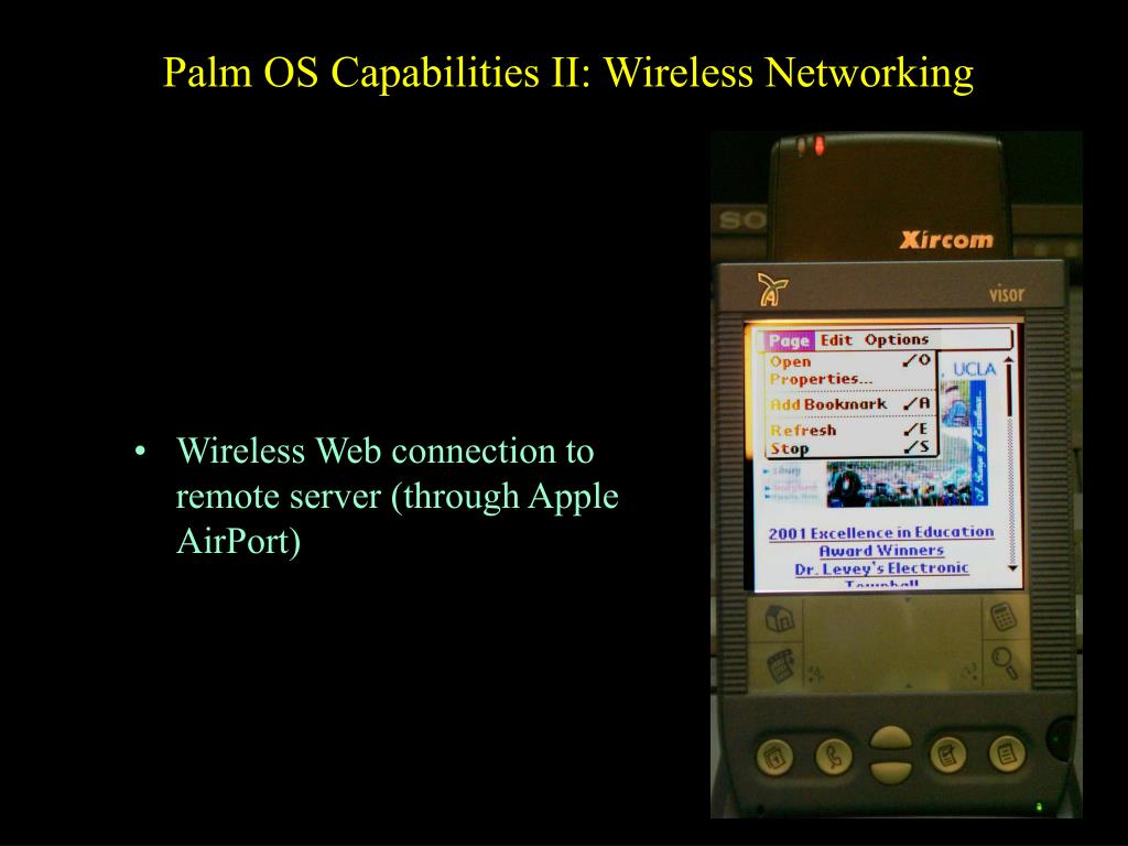 Palm OS Capabilities II: Wireless Networking