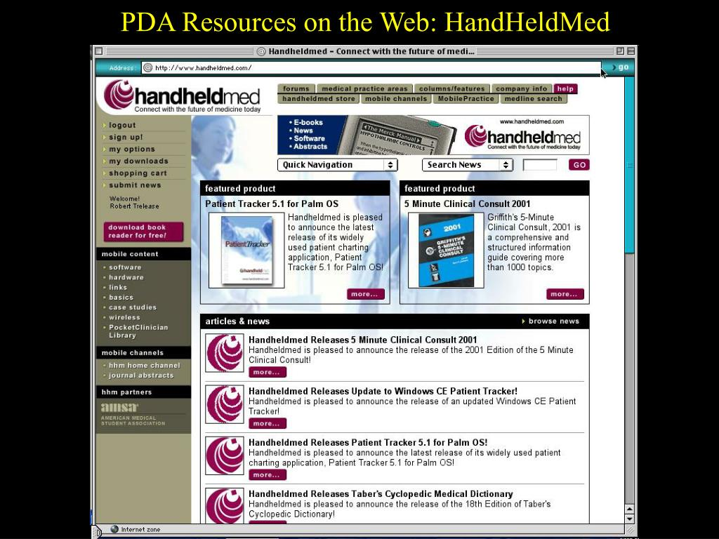 PDA Resources on the Web: HandHeldMed
