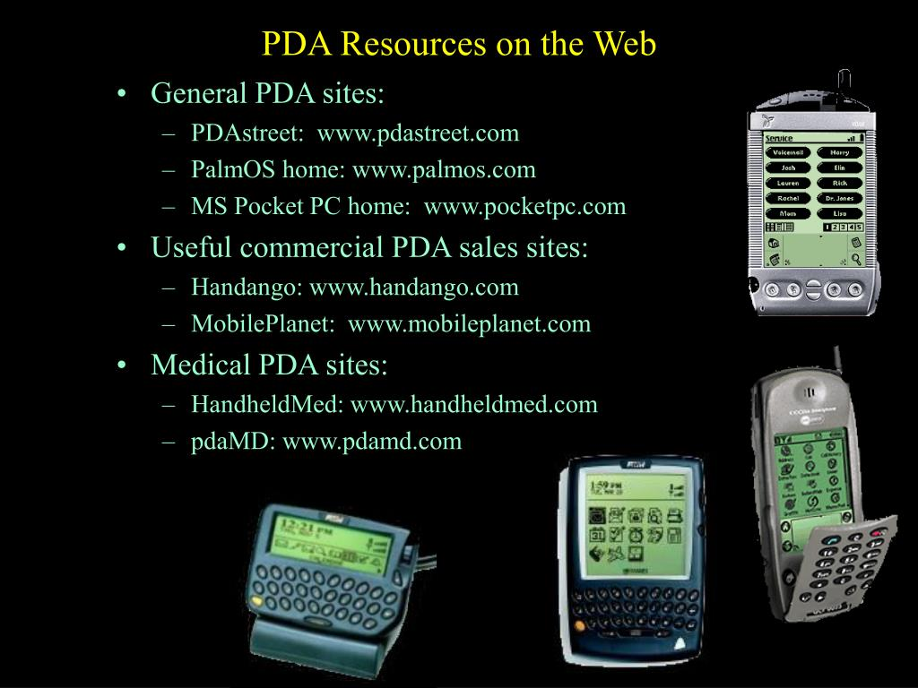 PDA Resources on the Web