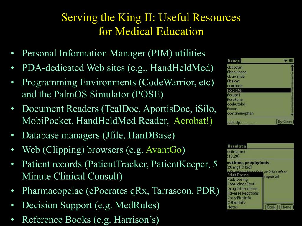 Serving the King II: Useful Resources