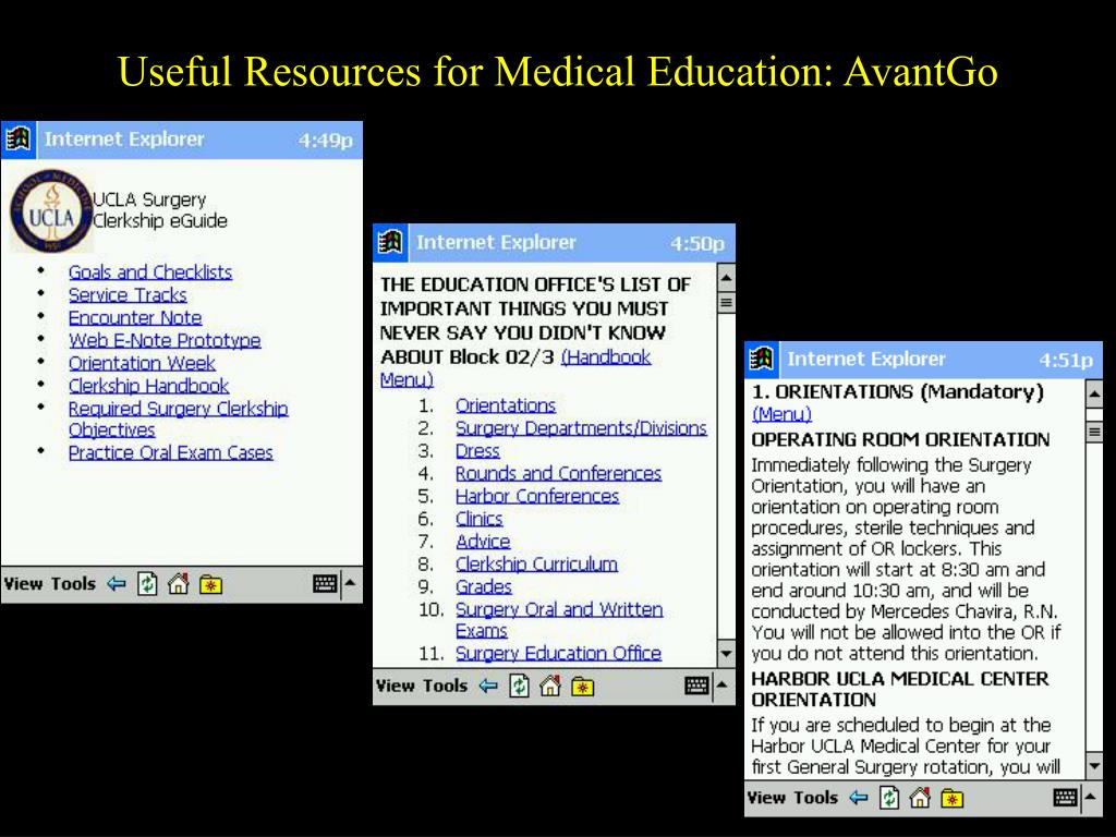 Useful Resources for Medical Education: AvantGo