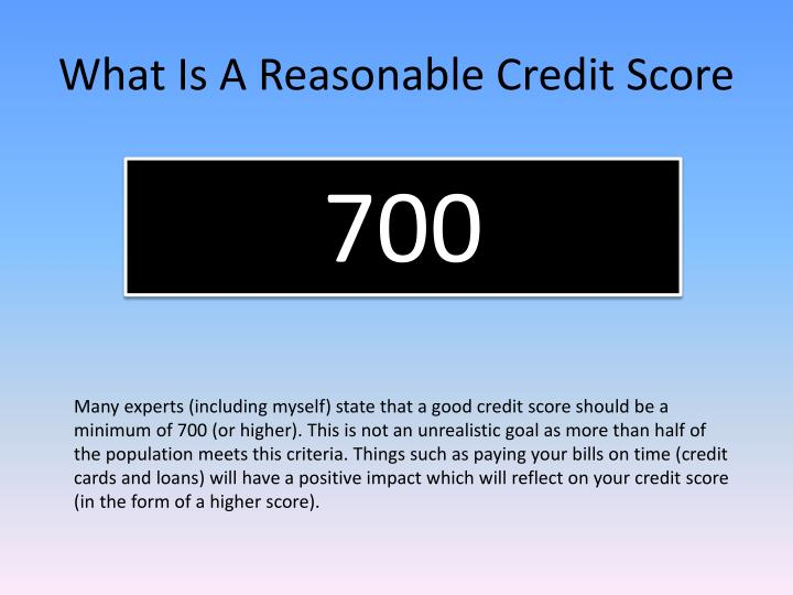 What is a reasonable credit score3