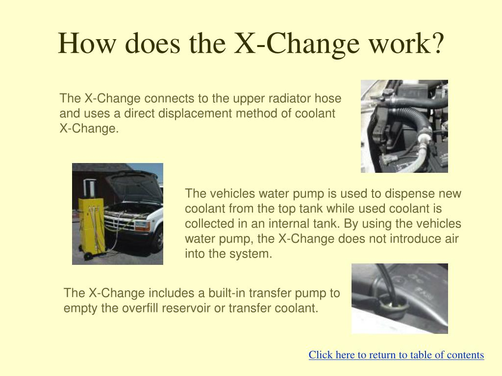 How does the X-Change work?